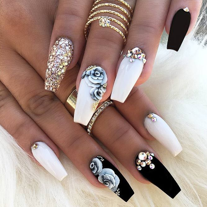 Prom Nail Ideas For Long: 36 Amazing Prom Nails Designs - Queen's TOP 2019