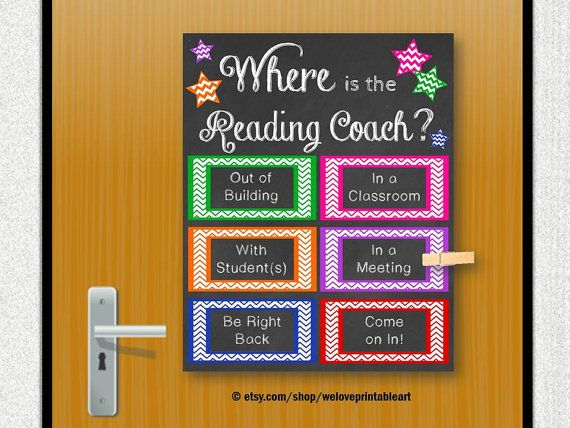 Reading Coach, Printable Poster, Back to School, Reading Teacher ...