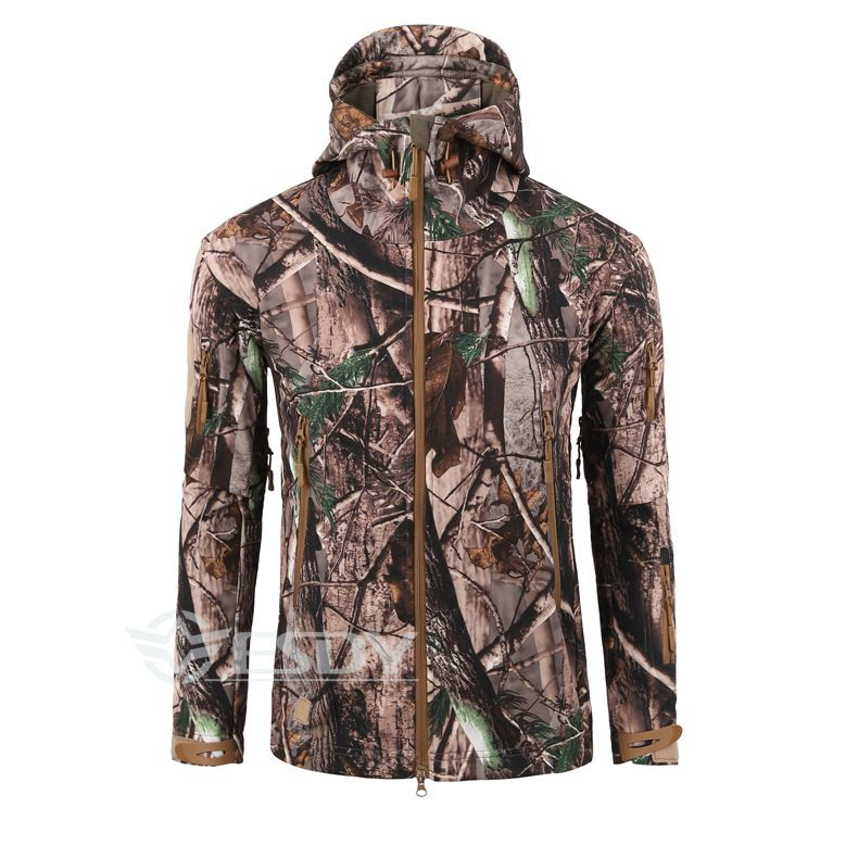 6fdc726a8e3fc ESDY TAD Men Outdoor Hunting Camping Coat Waterproof Windproof Shark skin  Soft Shell Military Bionic Camouflage