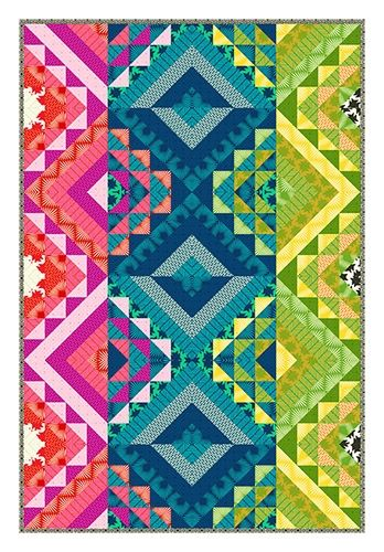 True Colors quilt designed by Carl Hentsch. Fabric from Heather ... : modern designer quilts - Adamdwight.com