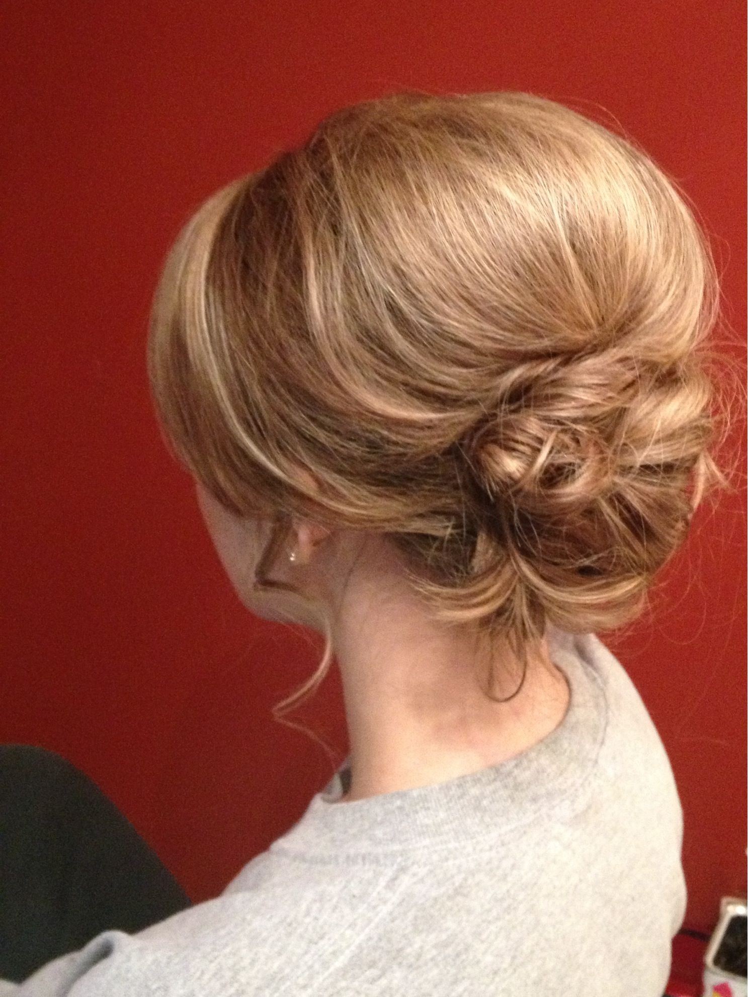 Messy Low Bun With A Lot Of Volume Big Bump