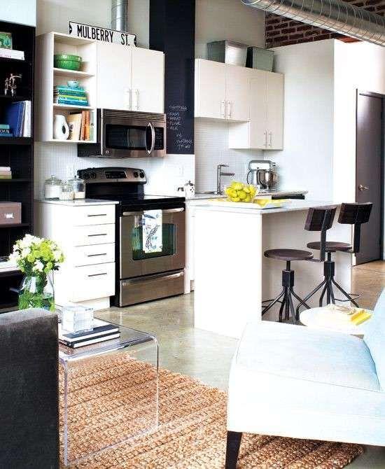 Arredare un monolocale Appartamenti piccoli, Cucina loft