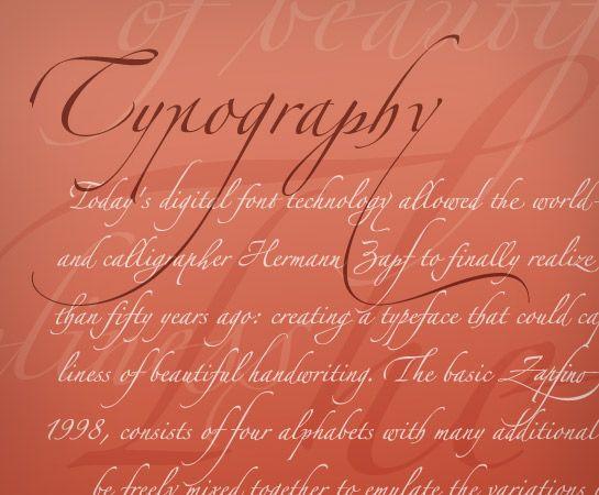 Linotype zapfino my favourite font typography pinterest
