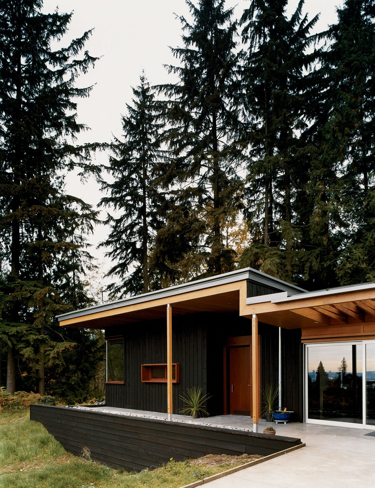 Exterior House Designs Exterior Modern With Concrete Patio Flat Roof: Flat Roof House Designs, Flat Roof House, Architecture