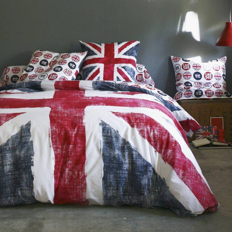 housse couette coton drapeau anglais bleu et rouge old flag union rh pinterest com