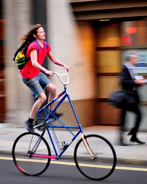 Tall bike, Moorgate by jeremyhughes, via Flickr
