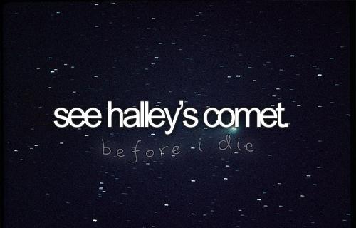 see halley's comet