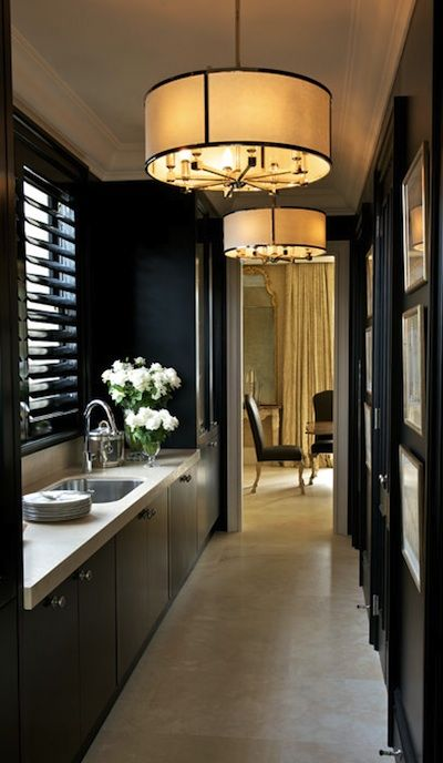 cuisine couloir Decorating Ideas Pinterest Cuisine, Salons and