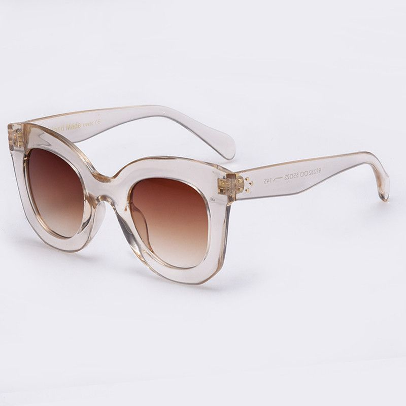 5f0c465e96eee 2017 Fashion Sunglasses Women Designer Sun glasses Female Rivet Shades Big  Frame Style