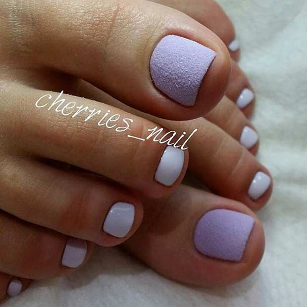 25 Eye Catching Pedicure Ideas For Spring Purple Toe Nails Toe