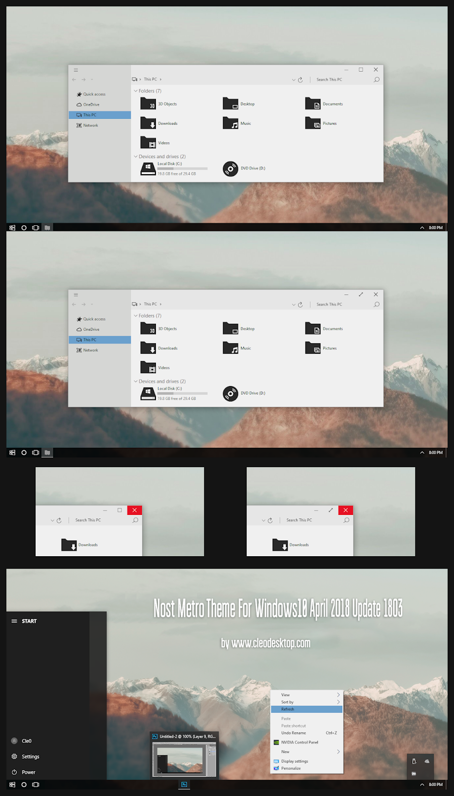 windows10 themes i cleodesktop nost metro theme windows10 april