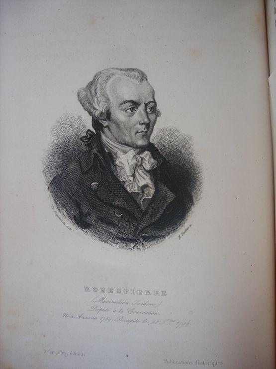 Gravure 19e Sicle 1845 Robespierre