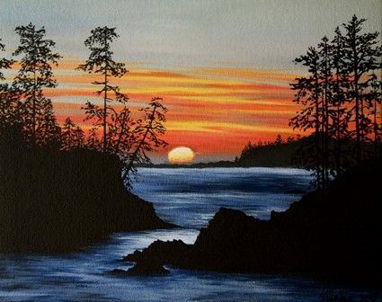 Acrylic Painting Patterns Catalog Of Patterns Scenery