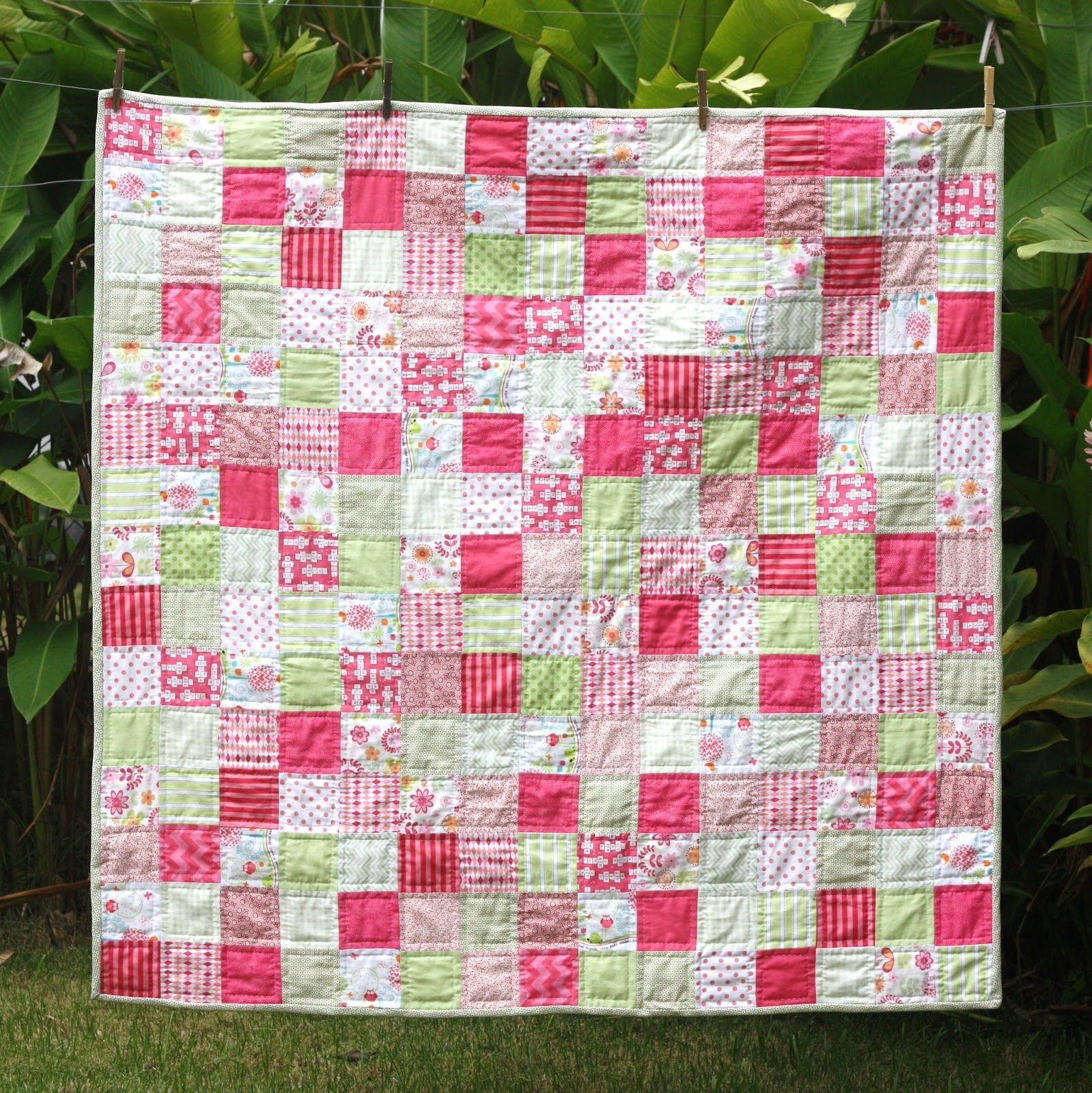 Hand stiched quilt from http://mysweetbamboo.blogspot.com/