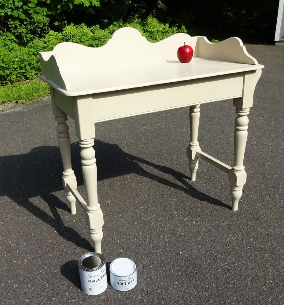 Antique Kitchen Desk Washstand Hand Ptd. w/Annie Sloan Chalk Paint & Soft Waxed #CountryCottage