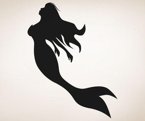 Ariel Mermaid Silhouette Png Google Search Little Mermaid Silhouette Mermaid Silhouette Decal Wall Art