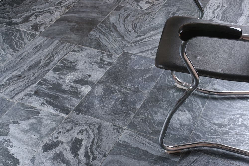 Silver Grey Or Ostrich Grey Quartzite Polished Floor Tiles Indian