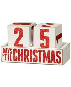 Primitives By Kathy Countdown Blocks - Christmas Decorations - For The Home - Macy's