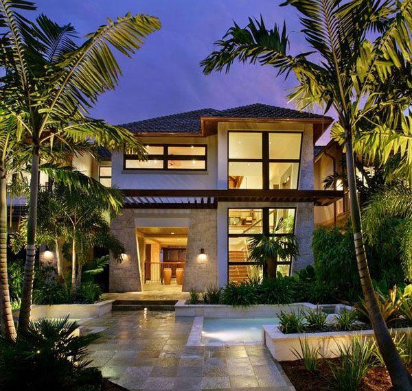 11 Landscape Design Ideas Shaping Up Your Summer Dream Home Tropical House Design Modern Tropical House Beach House Design