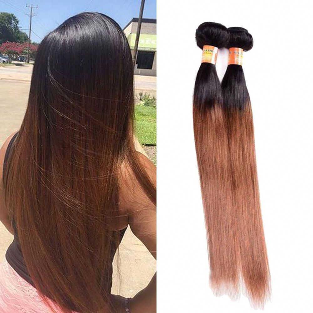 50g/Bundle 100 Real Human Hair Extension Straight Hair