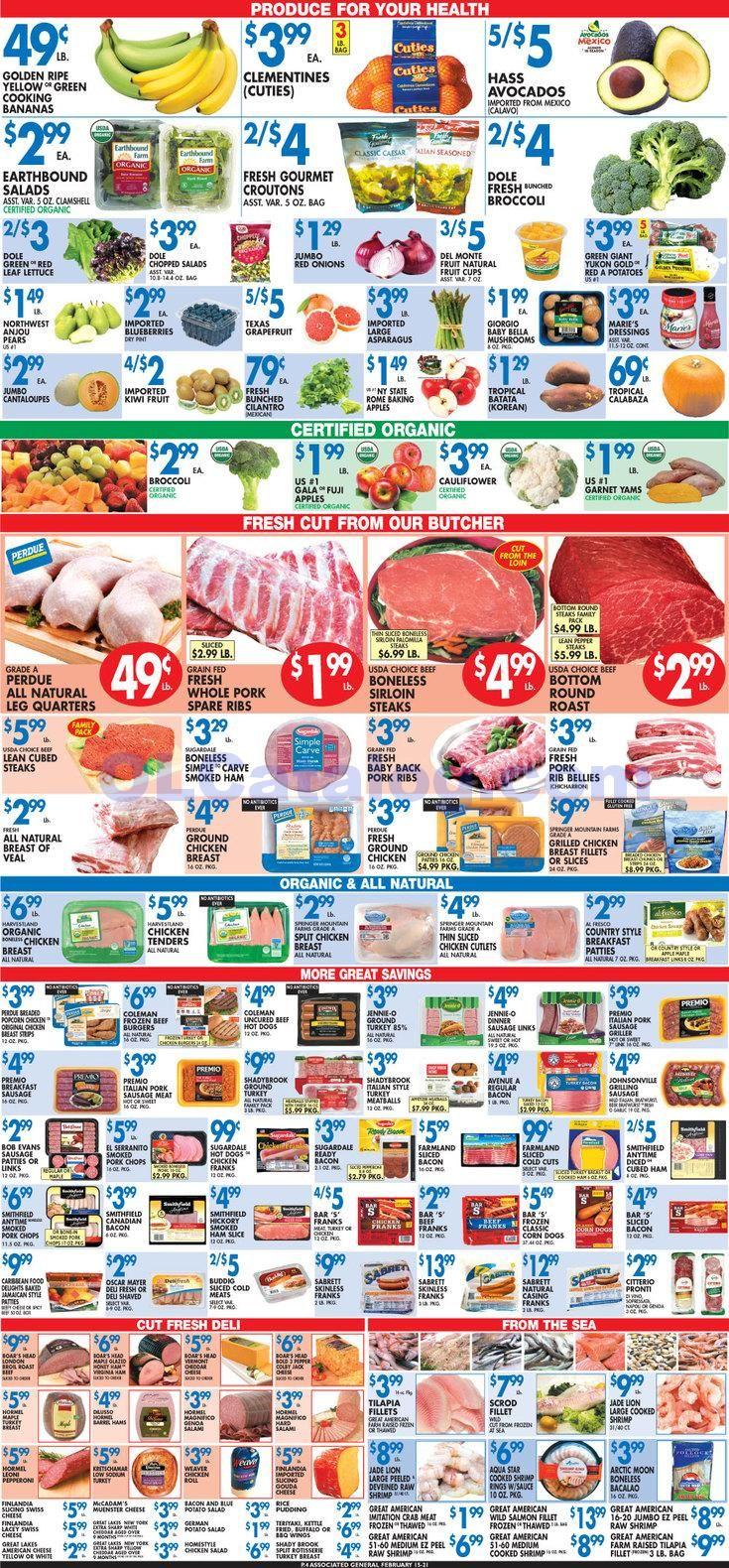 Associated supermarket weekly circular february 15 21