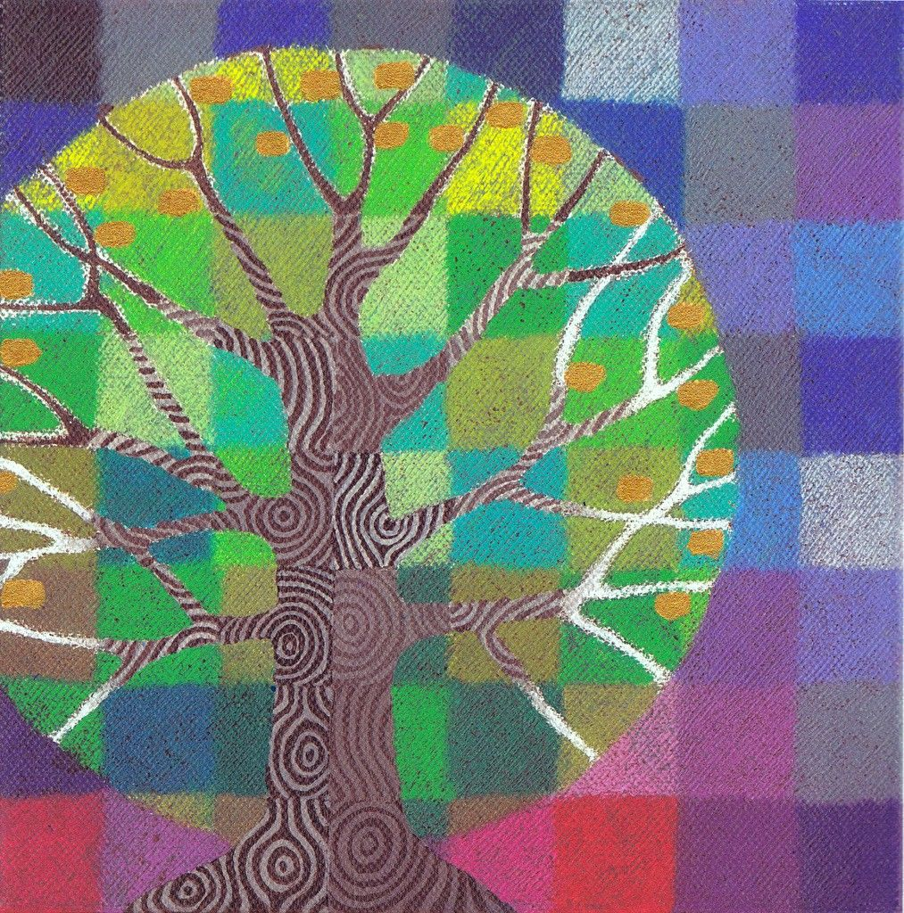 Test Pattern Tree 1, a limited edition print with handpainted details. $22.00, via Etsy.