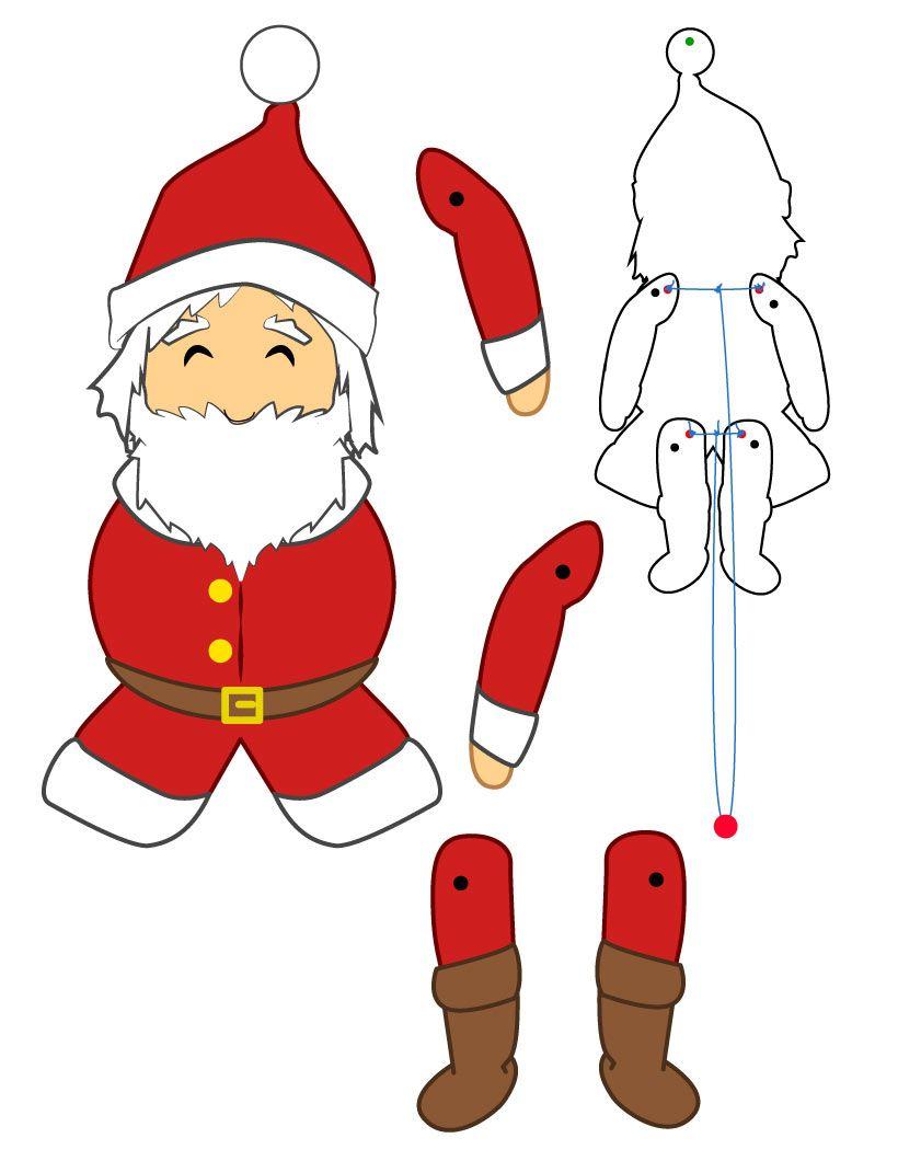 Christmas Paper Puppets Mikulás Pinterest Language Paper Afefebdcdeac