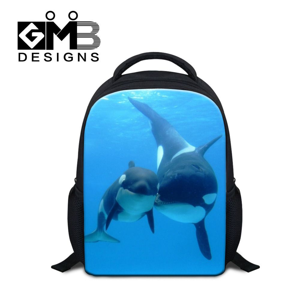 Dispalang 12Inch Animal Children School Bag Dolphin Backpack Cat ...