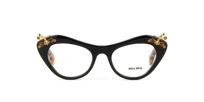 a1d6c1643acf Miu Miu MU 09MV 1AB1O1 Black Glasses | Pretavoir Cat Eye Glasses, Manolo  Blahnik,