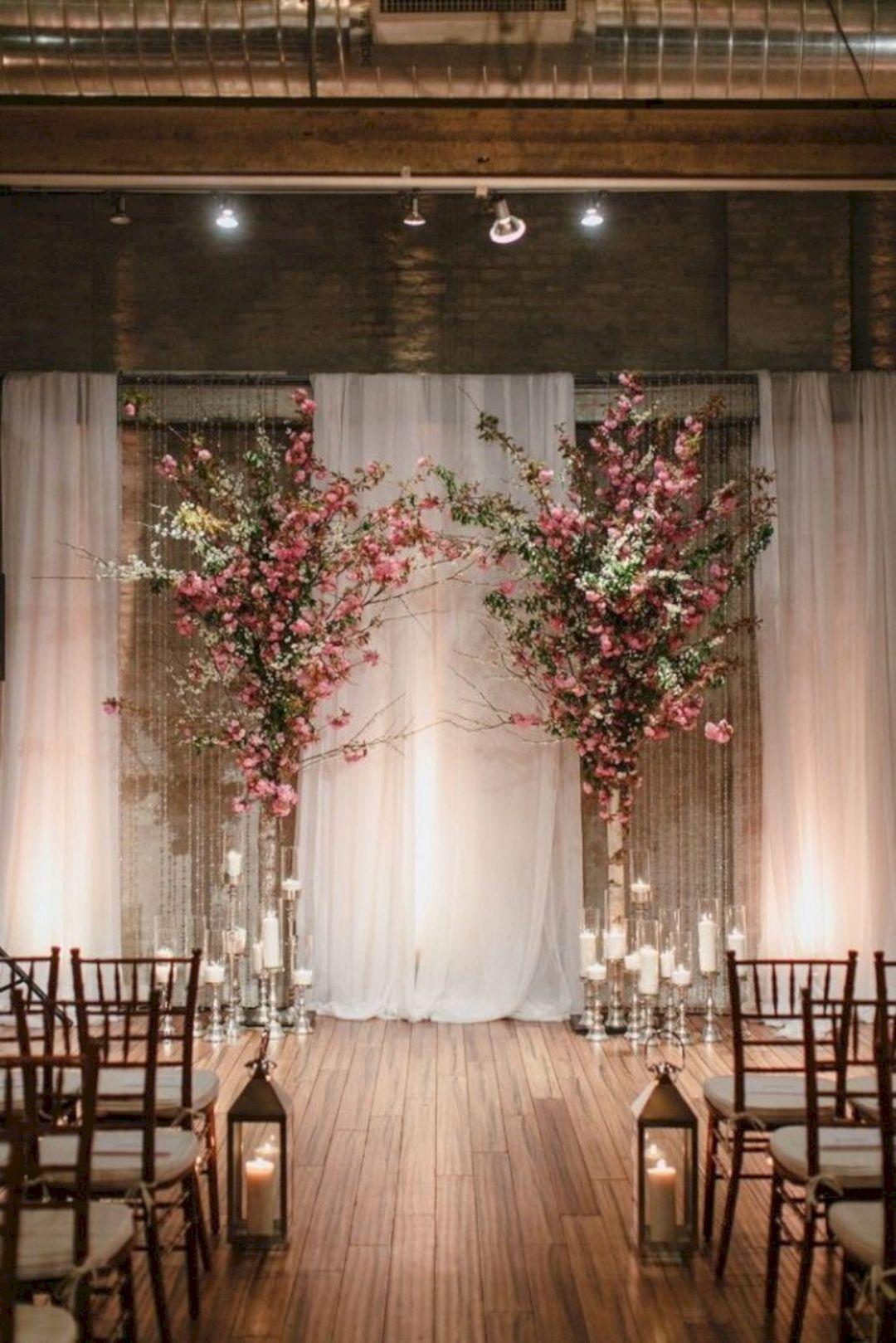 20+ Wonderful Wedding Backdrop Ideas For Perfect Wedding Party Indoor wedding ceremonies