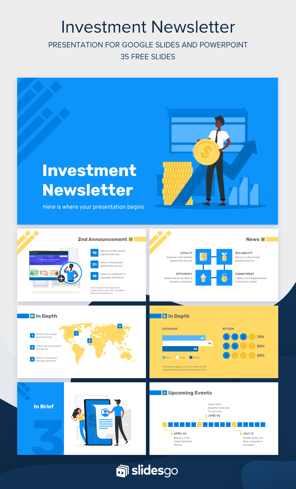 Share The Latest Pieces Of Information With Your Team With This Investment Newsletter Presentation For Goog Powerpoint Presentation Powerpoint Design Templates