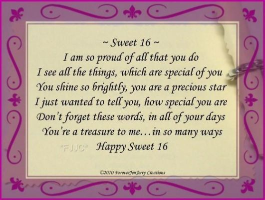 happy sweet sixteen birthday poem Birthday poems