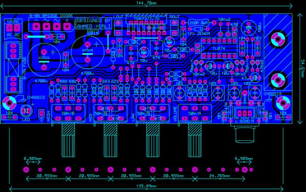 tda7377-pcb | Elektronik devre