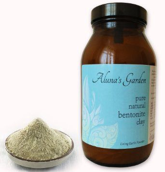 Pure & Natural Bentonite Clay Powder 420g ~ from Spain ~ with FSC sustainable birch wood mixing spoon (Amber glass jars): Amazon.co.uk: Heal...