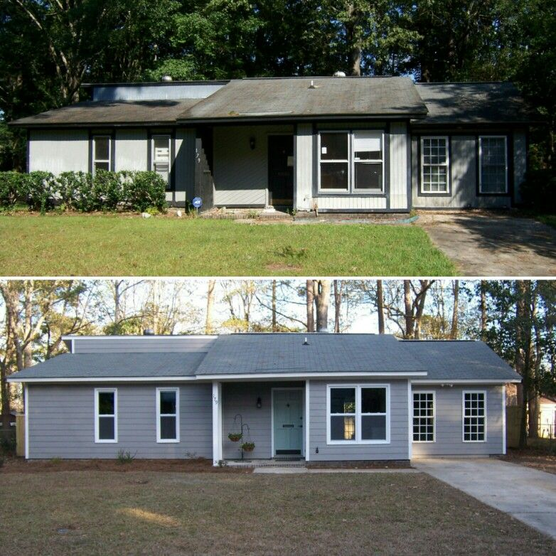 House Flipping Ranch Exterior Makeover Hgtv Sherwin Williams