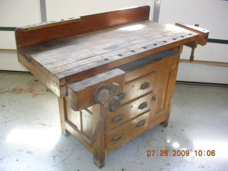 I Just Picked Up An Old Work Bench With A Top Exactly Like This The Base Is A Simple Stand Woodworking Bench For Sale Woodworking Bench Woodworking Workbench