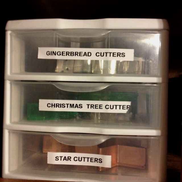 Organize your cookie cutters
