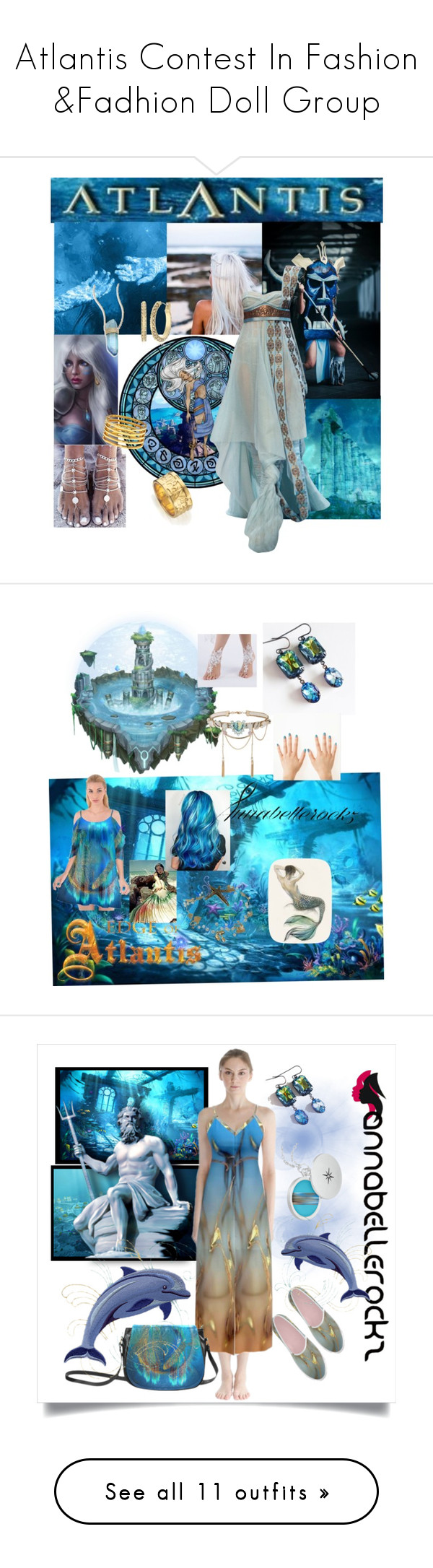 """Atlantis Contest In Fashion &Fadhion Doll Group"" by ragnh-mjos ❤ liked on Polyvore featuring contest, doll, atlantis, Atlantis, Disney, Jacquie Aiche, Diane Von Furstenberg, Monica Vinader, Kenneth Jay Lane and MINX"