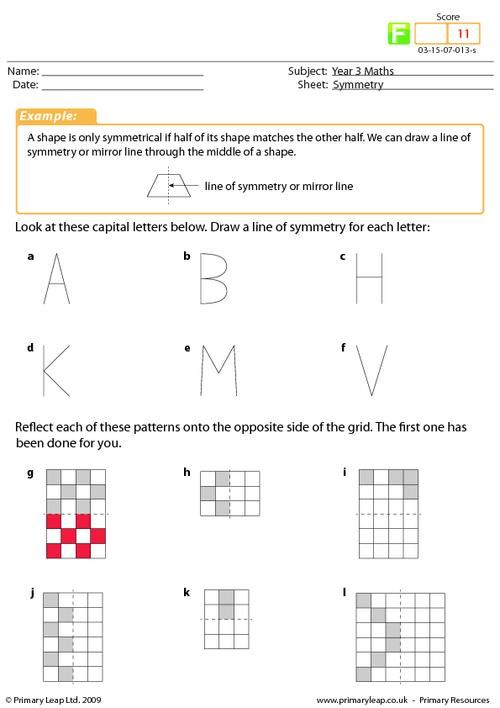 symmetry worksheet a primary resource for ks2 on symmetry the child will need to draw a line. Black Bedroom Furniture Sets. Home Design Ideas