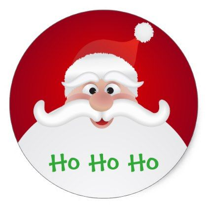 PERSONALISED GLOSS CHRISTMAS SANTA PARTY GIFT XMAS NOVELTY STICKERS ANY TEXT