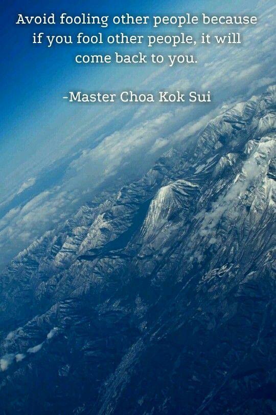 Quotes Mcks People Grandmaster Choa Kok Sui My First Spiritual