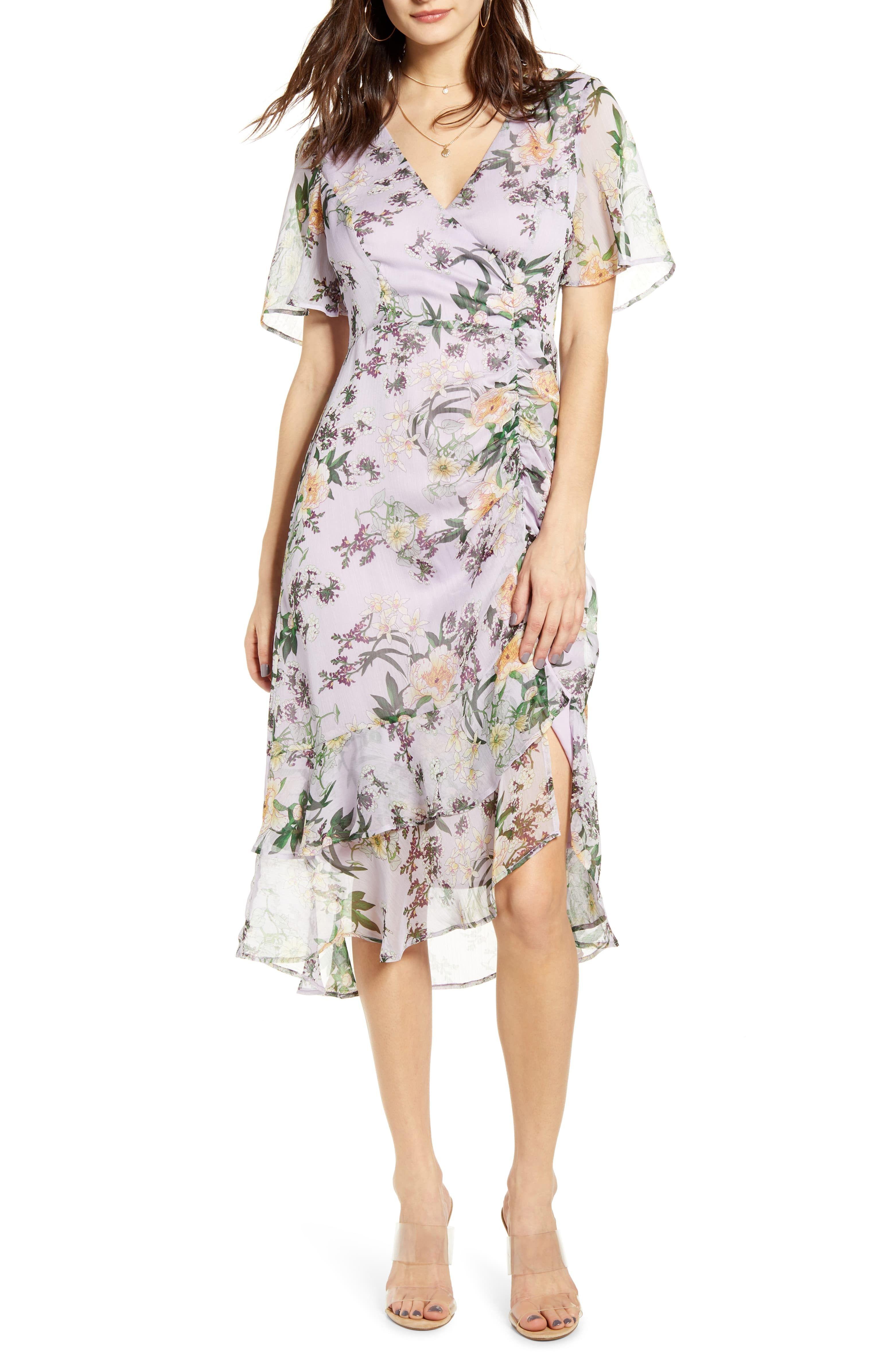Lavender Floral Print Dress For A Garden Wedding Wedding Guest Dresses Commissionlink Weddingguest Weddingguest Fashion Clothes Women Dresses Guest Dresses [ 4784 x 3120 Pixel ]