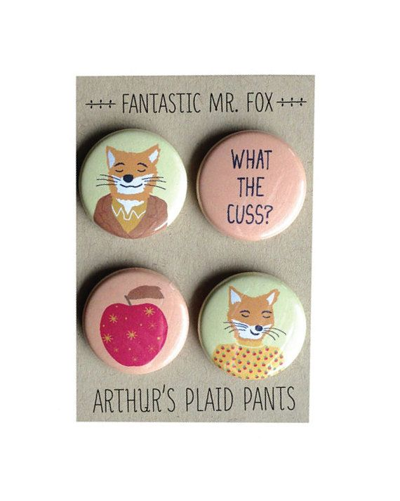 Fantastic Mr. Fox, Fantastic Mr. Fox magnet set, Wes Anderson, Wes Anderson…