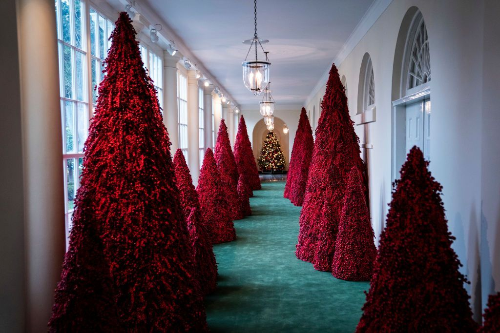 Melania Trump Is Already Working On This Year S White House Christmas Decorations White House Christmas White House Christmas Tree White House Christmas Decorations