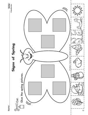Number Names Worksheets spring worksheets for preschoolers : 1000+ images about spring on Pinterest | Homeschool, Cut and paste ...