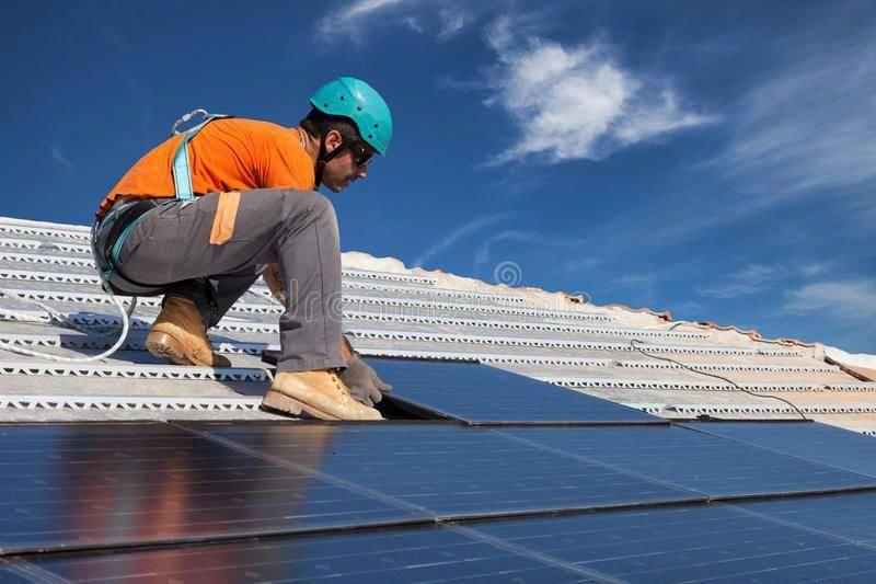 Install Solar Panels Technician Install New Generation Photovoltaic Solar Panel Sponsored Panels Technician Instal In 2020 Solar City Solar Solar Panels Roof