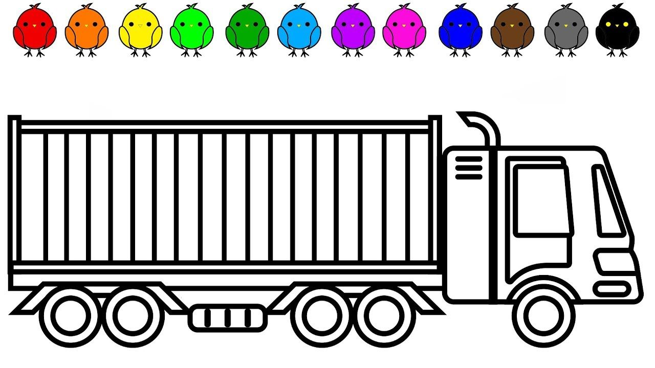 Car And Truck Coloring Pages Container Coloring Book For Kids Truck Coloring Pages Cars Coloring Pages Coloring Pages For Kids