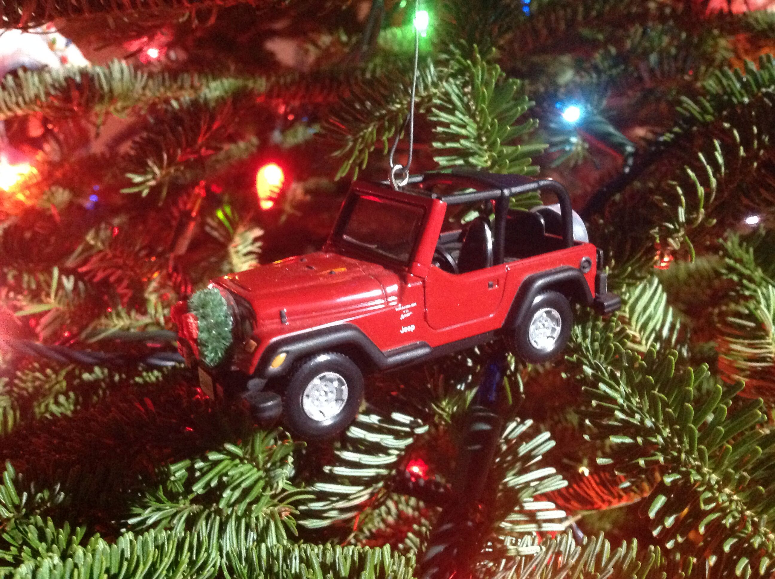 Jeep Christmas Ornament.Jeep Holiday Ornament I Heart Jeeps Red Jeep Wrangler