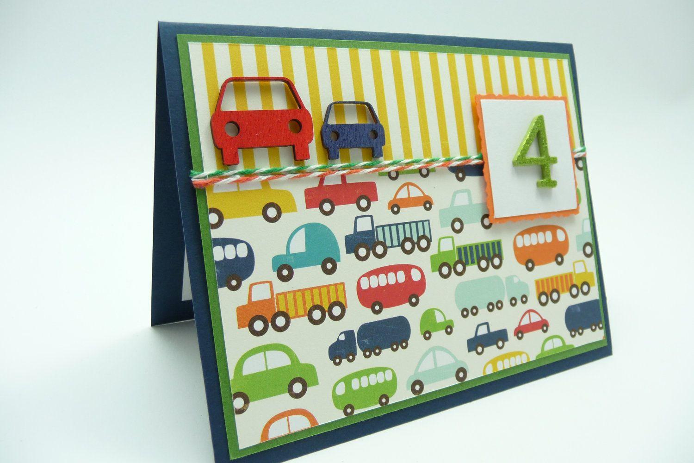 Boys 4th birthday card boys fourth birthday car and truck card boys 4th birthday card boys fourth birthday car and truck card little boy birthday bookmarktalkfo Choice Image