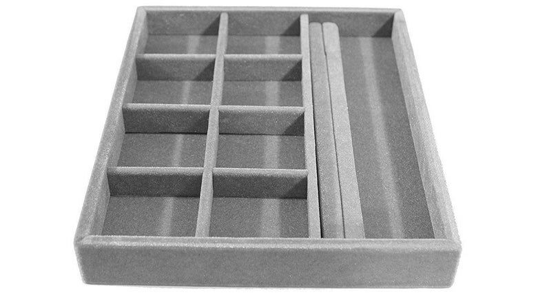Free ship jewelry organizer stacklable drawer insert wood